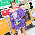 Печать фиолетовый свитер Сценический костюм DS танец женщины сексуальные костюмы певица танцор star ночной клуб шоу super star мода