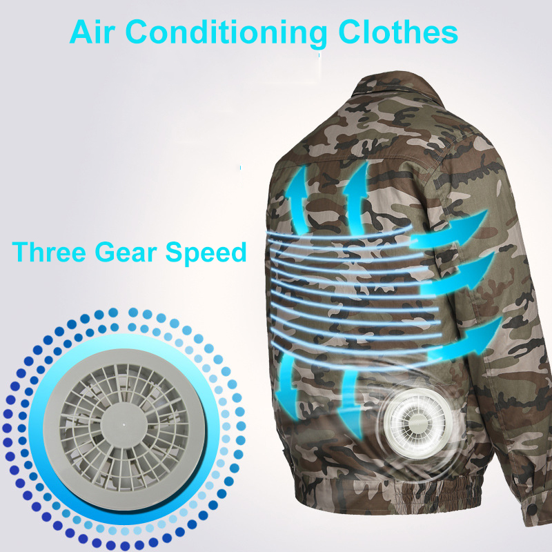 Image 2 - Air Conditioning Clothes Cooling Conditioned Fan Jacket For Outdoor High Temperature Cooling Jackets Working Fishing Hunting-in Safety Clothing from Security & Protection