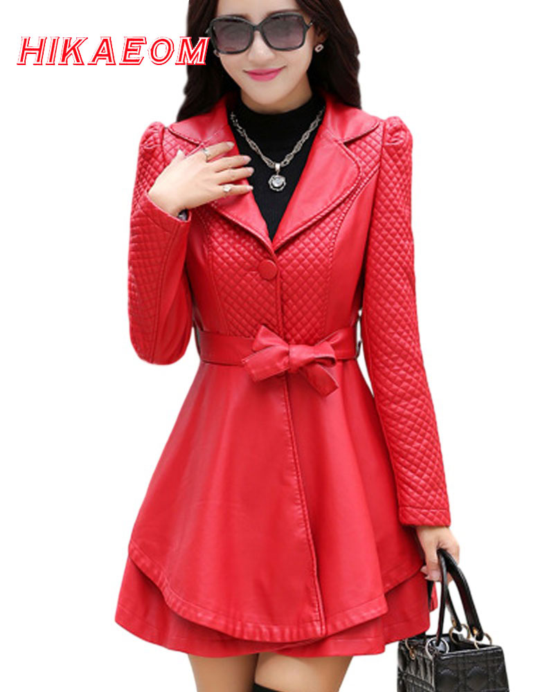 Layers Leather Jacket Special Offer Sashes New Autumn Winter Jackets Women Pu Leather Coat Female Plus Size Ms. Slim fur Coats