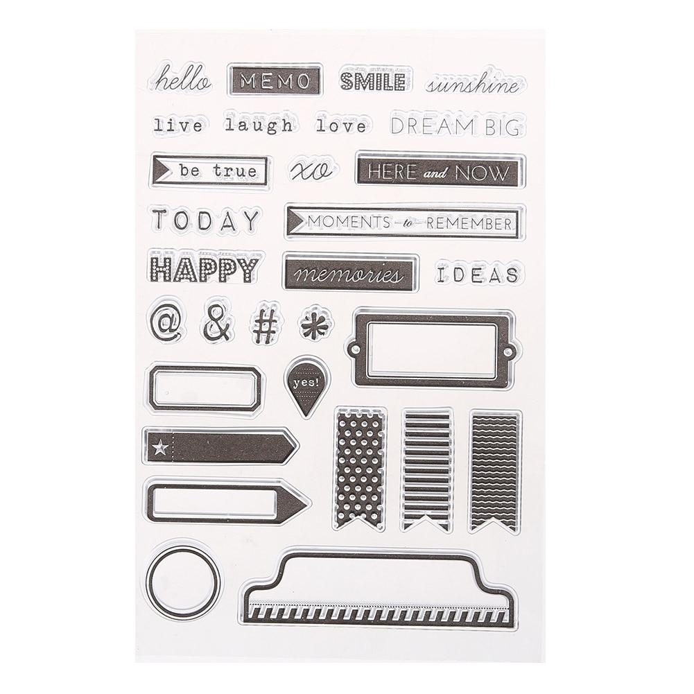 1Pcs Clear Stamp for Scrapbooking DIY Transparent Silicone Seals Stamp Handmade Embossing Card Scrapbook Tools настольная лампа odeon light aurelia 3390 1t