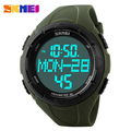 SKMEI Luxury Brand Men Sports Watches Digital LED Quartz Wristwatches Pedometer 3D Calories Military Watch relogio masculino
