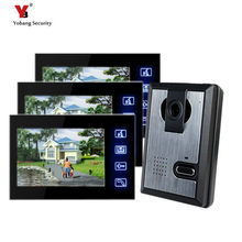 Yobang Security Freeship7 Inch Door Monitor Video Intercom Home Door Phone With Rain Cover Camera Door Release Unlock Doorbell