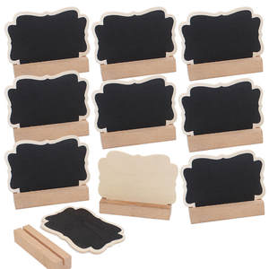 5 pcs/Lot Cute Butterfly Wooden mini blackboard with card slot For Wedding Party