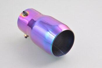 Olśniewające kolorowe tłumik wydechowy ogon końcówki rury 58-70mm średnica wewnętrzna [QPA137]