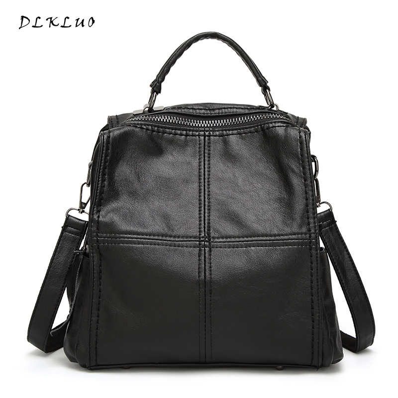 2017 New arrival Multi function Leisure Shoulder Bags aslant bags Women Genuine Leather Backpack water proof