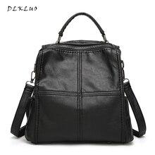 Новинка 2017 года поступление многофункциональный для отдыха сумки на плечо наискось сумки Женщины Натуральная кожа рюкзак Водонепроницаемый школьная сумка Mochila