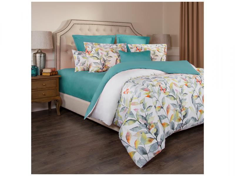 Bedding Set double SANTALINO, Harmonica, White/Turquoise turquoise ring set 8 pieces set