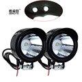 2 unids bici de la motocicleta 12 V - 80 V 3 W LED frontal de Metal faro luz lámpara 2016 el más nuevo envío gratuito