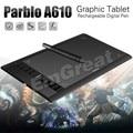 """Parblo A610 10x6 """"искусство Графика графический Планшет Tableta Grafica 5080LPI + Защитная Пленка + Перчатки + 10 Pen Tips"""