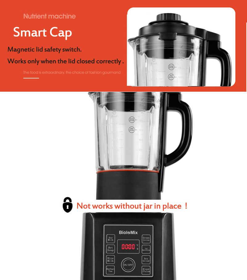 Bpa livre 1.75l jarra de vidro digital cozinhar liquidificador fabricante sopa quente misturador liquidificador processador moedor alimentos juicer com função aquecimento