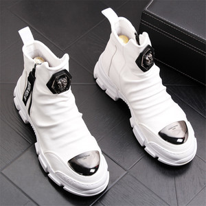 Image 3 - Yumuşak deri çizmeler erkek Trend 2020 kış sıcak kar botları su geçirmez erkek ayakkabısı X #15/10D50