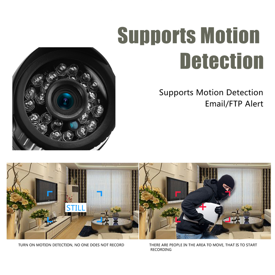 Image 4 - BESDER 2.8mm Wide IP Camera 1080P 960P 720P Email Alert XMEye ONVIF P2P Motion Detection RTSP 48V POE Surveillance CCTV Outdoor-in Surveillance Cameras from Security & Protection