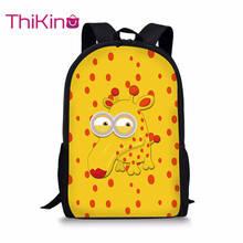 Thikin Cute Cartoon Animal School Bag for Teenager Backpack Girls Cool Summer Travel Package Shopping Shoulder Women Mochila