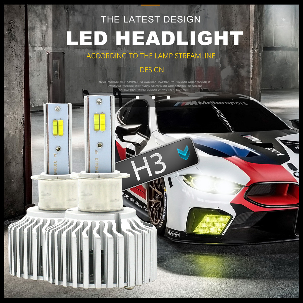 3 Color Switch LOAUT H1 H3 H4 H7 H11 H13 H15 3000K 4300K 6000K LED Headlight 9004 9005 9006 880 9012 5202 8000LM Fog Light 3C cnsunnylight car led headlight bulbs all in one h7 h11 h1 880 h3 9005 9006 9012 5202 72w 8500lm h4 h13 9007 high low beam lights