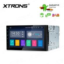 "XTRONS 2 Din 7 ""Android 9,0 Universal Car Radio Multimedia reproductor estéreo GPS navegación DAB + TPMS Bluetooth FM WIFI USB DVD(China)"