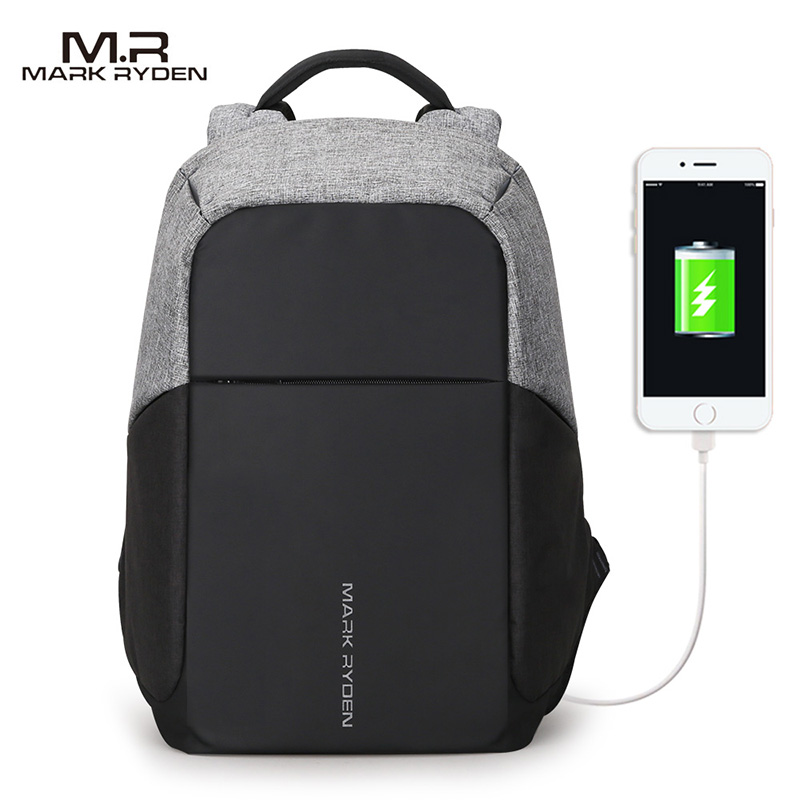 Image 4 - Mark Ryden Multifunction USB charging Men 15inch Laptop Backpacks For Teenager Fashion Male Mochila Travel backpack anti thief-in Backpacks from Luggage & Bags