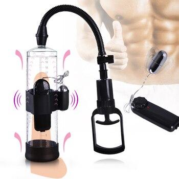 Vibrating Penis Pump Enlarger Developer Erection Sex Toy Penis Enlargement, Penis Extender Enlarger Enhancer Sleeve Device Toy 1
