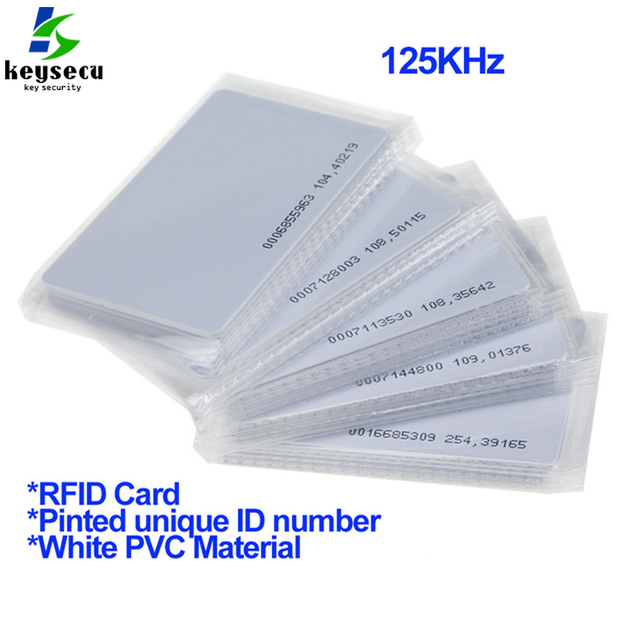 US $15 5 |100pcs Low Cost RFID Card Proximity Smart RFID Card 125KHZ TK4100  EM ID Card EM4100 ISO Standard For Access Control System-in Access Control