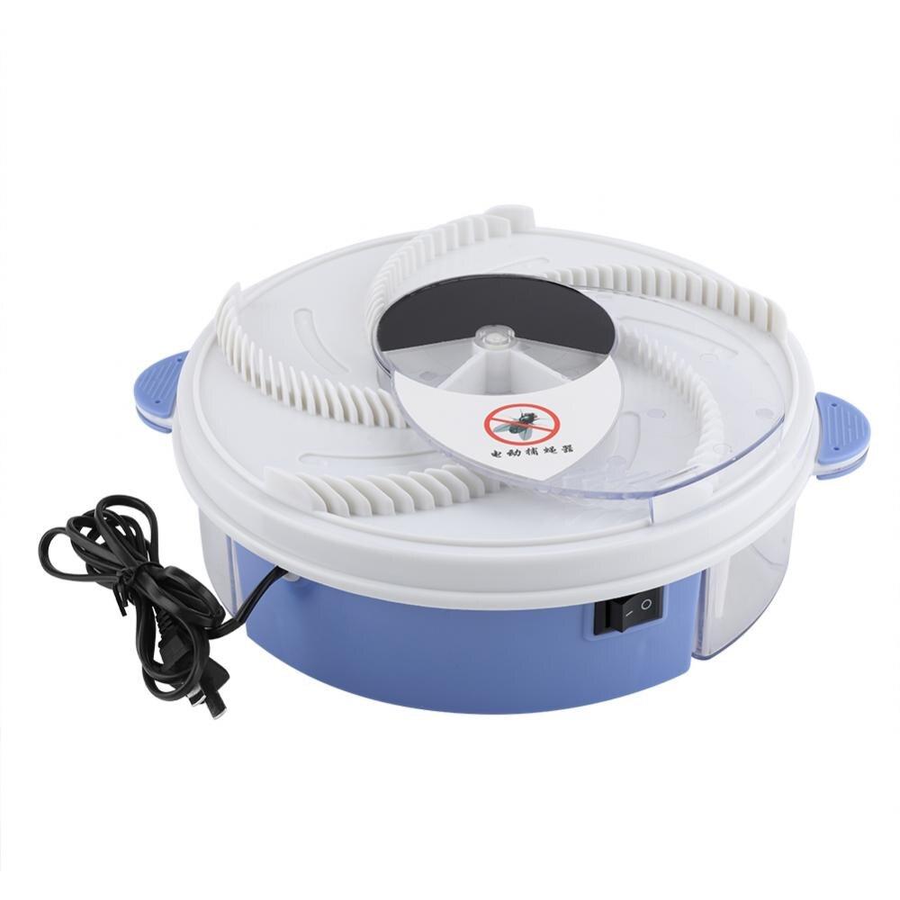 Dispositivo eléctrico eficaz de trampa de moscas repelente de plagas con placa giratoria de comida para el hogar repelente de mosquitos enchufe de EE. UU.