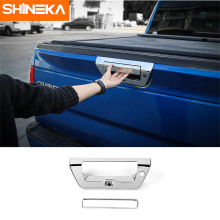SHINEKA Car Styling ABS Rear Tail Trunk Door Grab Handle Trim Tail Gate Cover Bezels for Ford F150 2015+ Free Shipping high quality chrome tail light cover for ford focus 08 11 hatchback free shipping