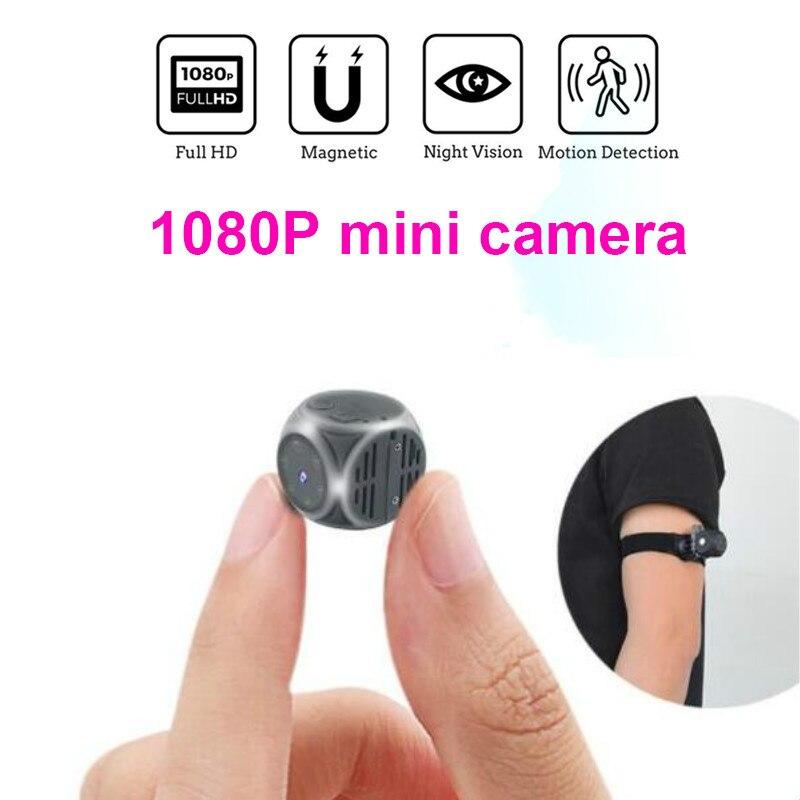 1080P Full HD Mini Câmera de Vídeo DV DVR Micro Cam Detecção de Movimento Com Visão Noturna Infravermelha suporte Filmadora escondida o cartão do TF