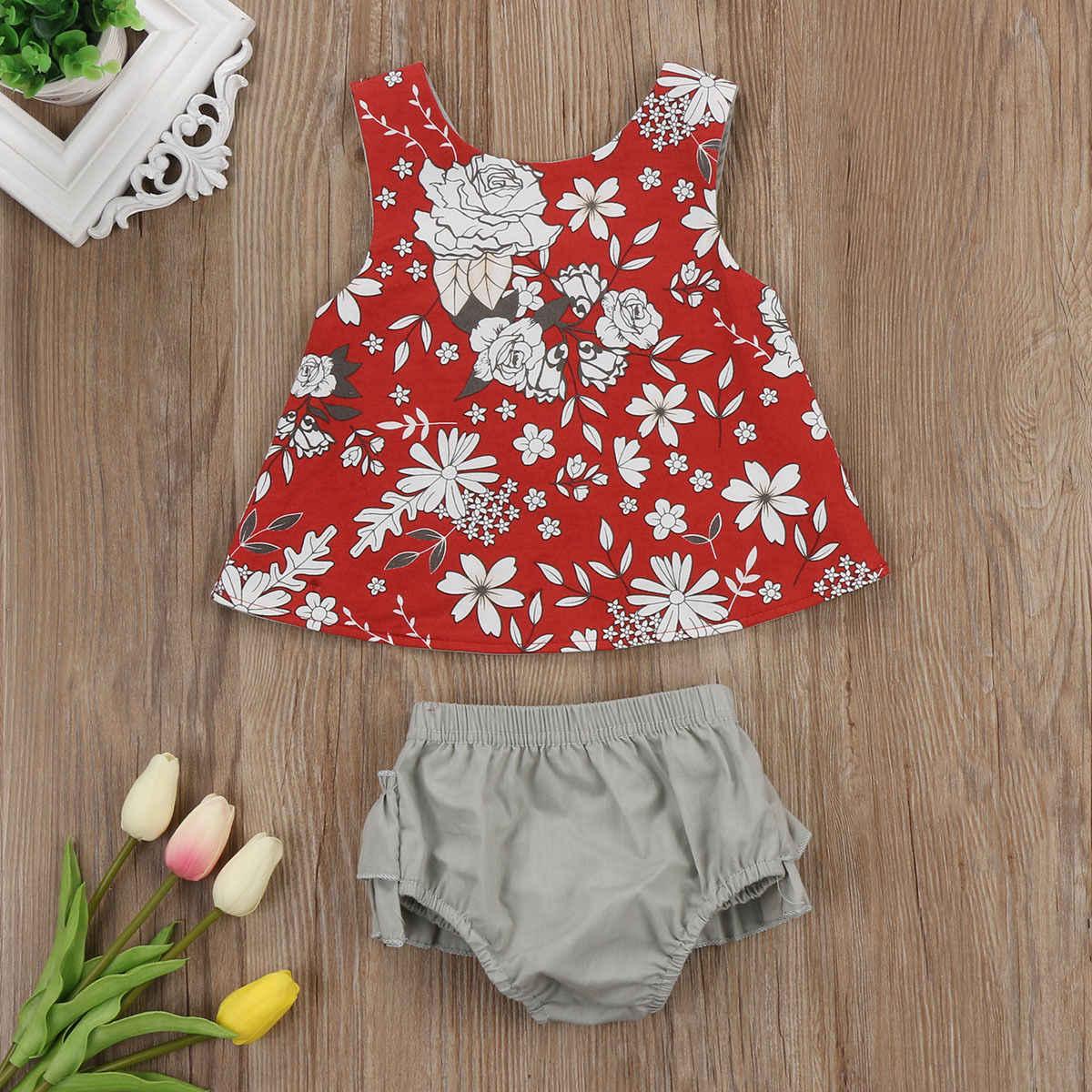 2018 новая модель купального костюма Детские носки с цветочным рисунком для новорожденных девочек одежда, комбинезон, топы, футболка, комплект из 2 предметов комплект CH