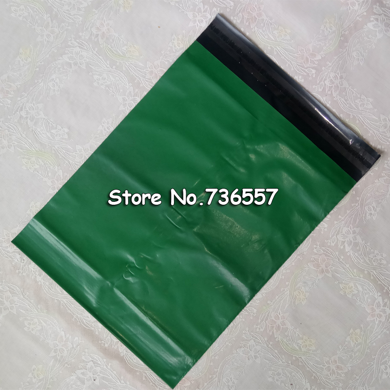 100pcs 17*30cm Green Poly Mailer Plastic Shipping Mailing Bag Envelopes Polybags Strong Plastic Seal Postage Bags Free Shipping