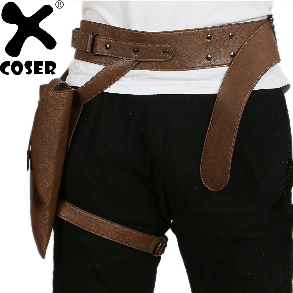 XCOSER Hot Sale Rogue One: A Star Wars Story Jyn Erso Belt with Gun Holster Leg Strap With High Quality PU Cosplay Prop For Men