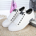 Women Canvas 2016 women Platforms Casual Shoes Comfortable Sweet Solid White Black Blue Canvas Shoes Free shipping