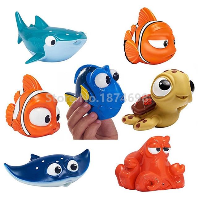 new finding dory baby bath toy set of 7 dory nemo marlin fluke hank