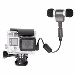 Image 5 - סטריאו מיקרופון מתאם עבור GoPro מיקרופון מתאם כבל 3.5mm מיקרופון ג ק ממיר w רעש הפחתת IC עבור GoPro 4 3 + 3