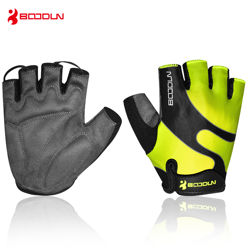 Boodun Weight Lifting Gym Gloves Men Women Sports Fitness Breathable Comfortable Gloves Half Finger Gloves Trainning body building sports cyling half finger gloves for women black red
