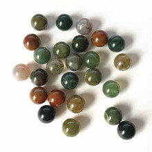 Natural Half hole Colorful stone Indian half drill natural round beads for making earring parts 8mm 50pcs