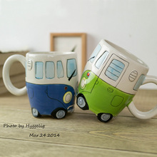 British Double Bus Mug Hand Painted Ceramics Bus Cup Retro Car Mug Coffee Cup Creativity Birthday Present Caneca Cups And Mugs printio british flag bus
