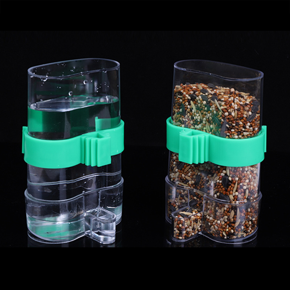 Pet Bird Feeder Acrylic Automatic Cage Seed Water Food Automatic Feeder Parrot Cockatiel Canary
