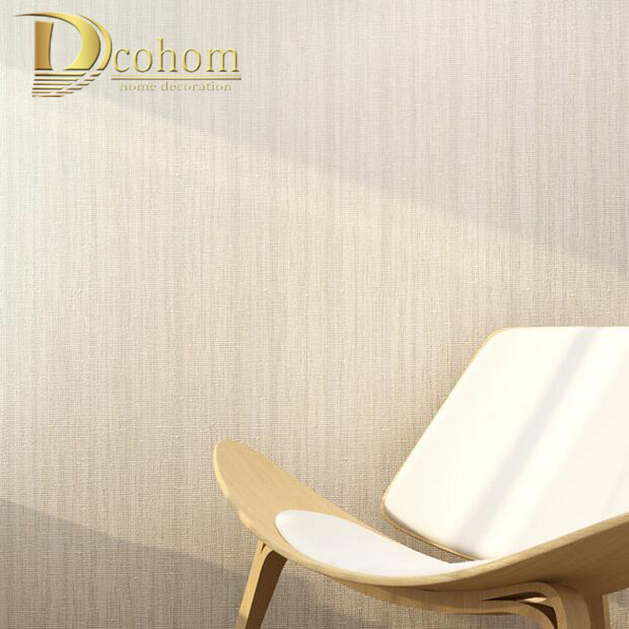 Modern Simple Solid Color Beige Striped Textured Wallpaper For Walls Bedroom Living room Home Decor Nonwoven Wall paper Rolls simple european style 3d wallpaper for walls decor bedroom living room non woven solid color modern home wall paper rolls