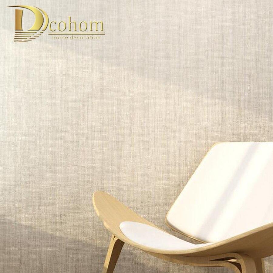 moderno simple del color slido beige rayas textura de papel tapiz para paredes dormitorio sala de