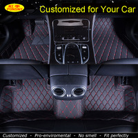 PONSNY Customized for MG MG3SW MG3 MG5 MG6 GS MG7 Car Floor Mats Car-styling Auto Carpets Automobile Foot Car Rugs