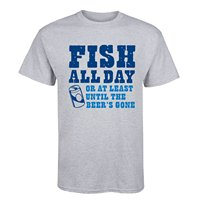 Fisher All Day Beer Drinking Fishinger Boating Father's Day Dad Humor Mens T Shirt Hipster Tees Summer Mens T Shirt