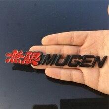 цена на 3D Aluminum Mugen Power Emblem Chrome Logo Rear Badge For Car Trunk Sticker Car-Styling for Honda Civic Accord CRV Fit
