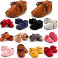 Caliente infante recién nacido baby girl soft sole botas niño cuna shoes la nueva flecos mocasín borla suave bottom shoes