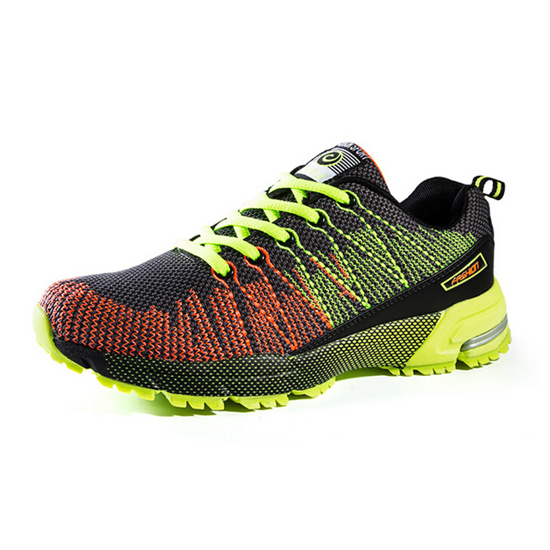 Aliexpress.com : Buy Fashion outdoor men sports shoes breathable mesh  running shoes lace up knitted athletic sneakers size 39 44 RS21 from  Reliable shoe ...