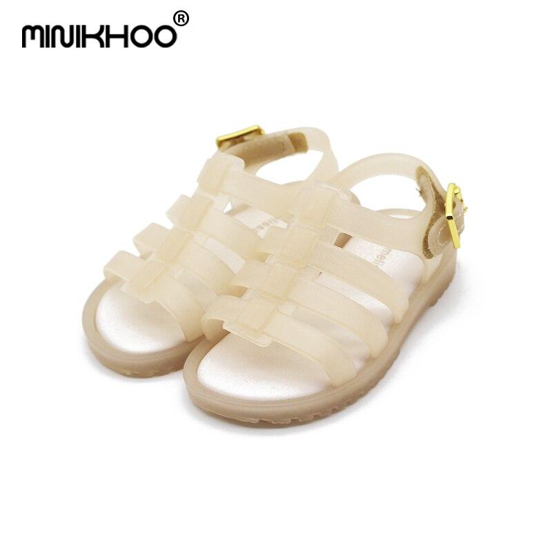 Mini Melissa 2018 Mini Roman Sandals Boys shoes Girls Sandals Flox Jelly Shoes Sandals ChildrenS Shoes Roman Hollow Breathable