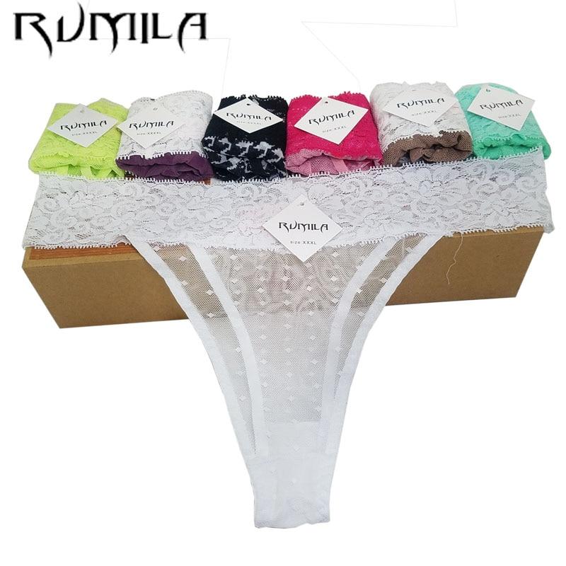 XXXXL SEXY Lace Cotton Women's Sexy Thongs G-string Underwear Panties Pant Briefs Lingerie BIKINI Ladies Women 1pcs ZX73 Hsq