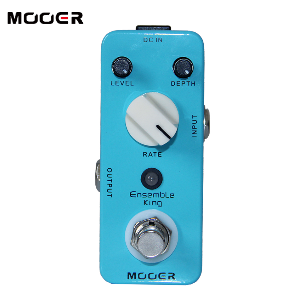 MOOER Ensemble King Chorus Pedal Pure analog chorus sound Guitar effect pedal mooer ensemble king chorus effect pedal analog guitar effects true bypass with free connector and footswitch topper