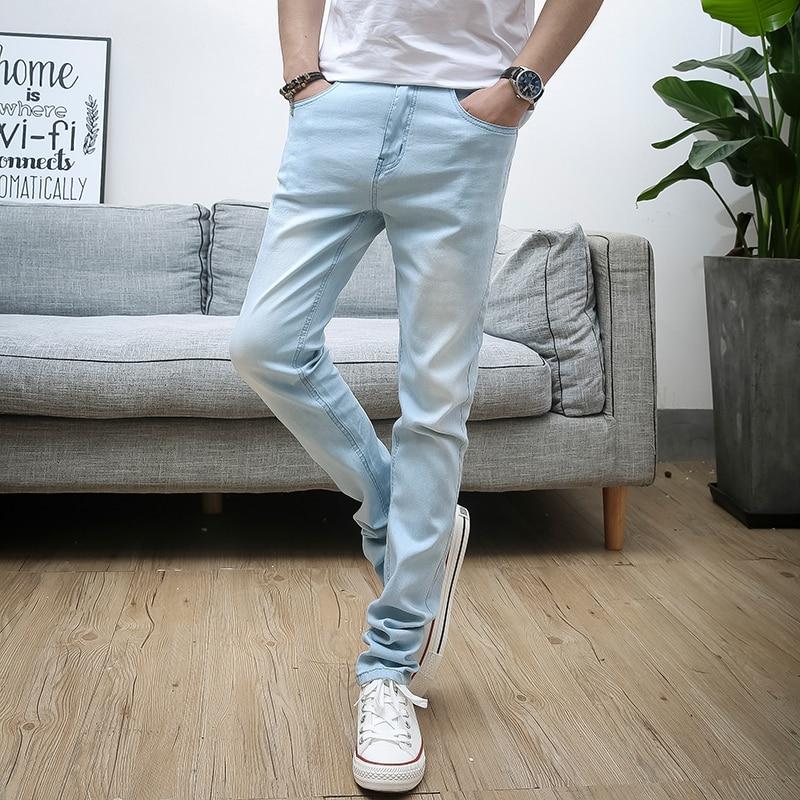 Men   jeans   Slim feet casual straight pants Korean version trend men trousers 40QJ