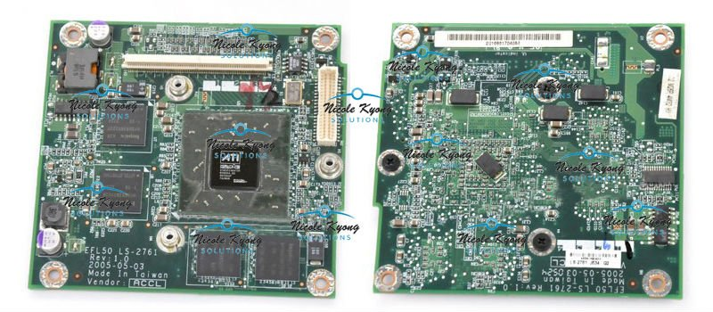 K000027050 efl50 fl50 ls 2742 go6600 vga video card for toshiba.