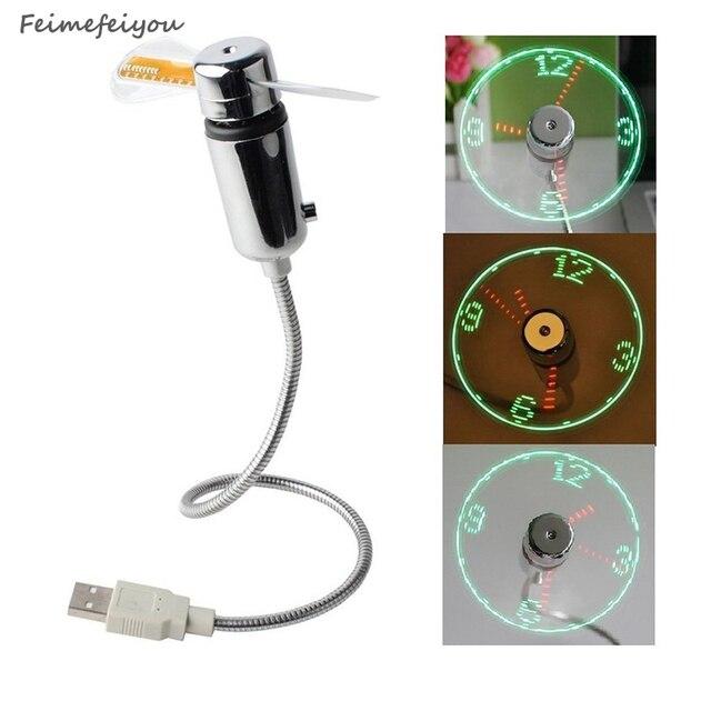 2018 new ideas christmas must USB LED mini clock display real time clock timing luminous fan night light lamp Wrist watch