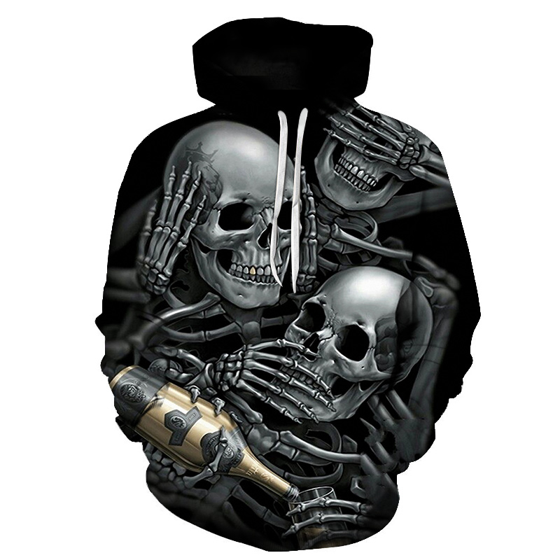 Fashion Skull 3D Hoodies Men Women Hoodie Casual Brand Sweatshirts Drop Ship Male Hoodie Novelty Steetwear