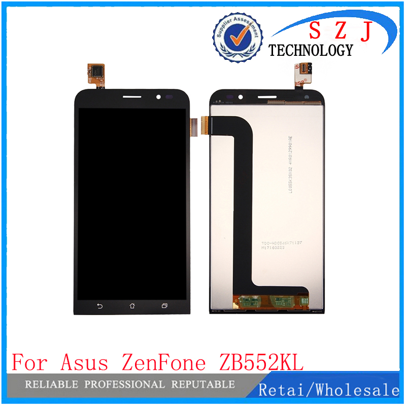 New 5 inch case Full LCD Display + Touch Screen Panel Digitizer Assembly For ASUS Zenfone Go ZB552KL Free Shipping for asus padfone mini 7 inch tablet pc lcd display screen panel touch screen digitizer replacement parts free shipping